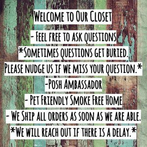 Welcome to Our Closet